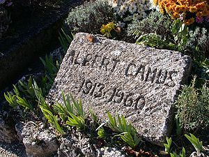 Photograph of Camus's gravestone
