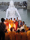 A havan ceremony on the banks of Ganges, Muni ki Reti, Rishikesh.jpg