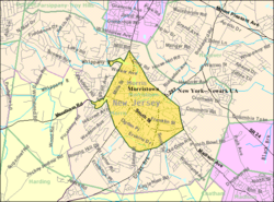 Census Bureau map of Morristown, New Jersey