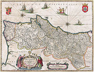 Map of Portugal from 1647