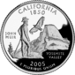 California quarter dollar coin