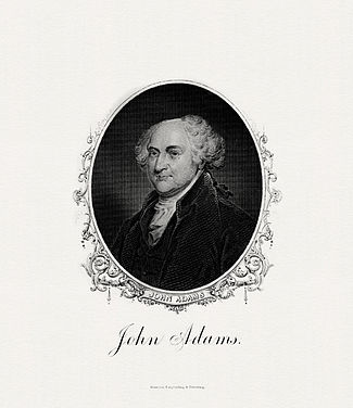 BEP engraved portrait of Adams as President