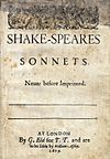 Title page of the Sonnets