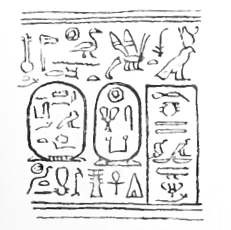 Cylinder seal bearing the royal titulary of Sonbef, drawing by Flinders Petrie.[1][2]