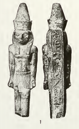 Horus statuette bearing the cartouches of Necho I. London, Petrie Museum.[1]