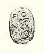 Picture of a scarab of Wahibre Ibiau, now in the Petrie Museum (UC 11572).