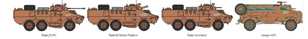 SA Infantry Alpha attack vehicles
