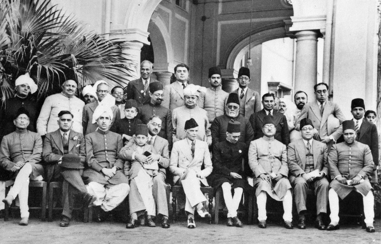 File:Muslim League leaders after a dinner party, 1940 (Photo 429-6).jpg