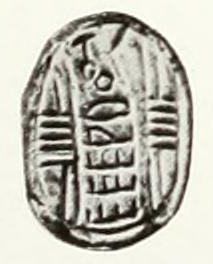 Scarab of Khamure photographed by Flinders Petrie and now in the Petrie Museum[1][2]