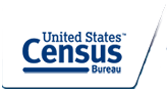This is the current logo for the U.S.Census Bureau as of 2014