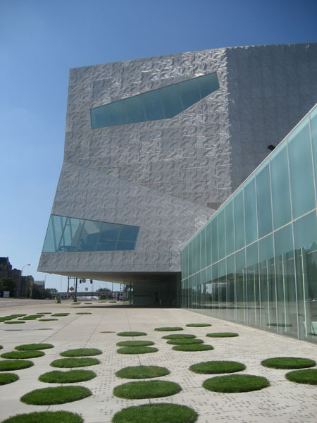 The Walker Art Museum, Minneapolis, MN -- also known as the Rock 'Em Sock 'Em Robots building.