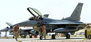 160th Expeditionary Fighter Squadron F-16C 86-0346 Balad AB Iraq.jpg