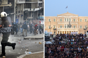 2010-2011 Greek protests collage.png