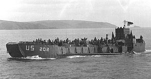 LCT-202 off the coast of England, 1944