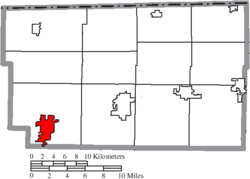 Location of Archbold in Fulton County