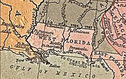 Location of West Florida