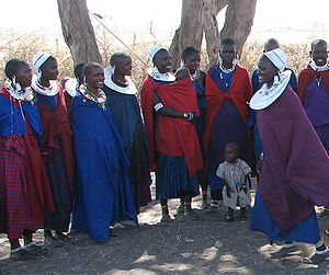 Maasai women and children.