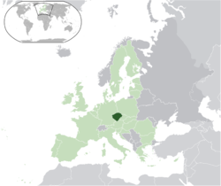 Location of Bohemia in the European Union