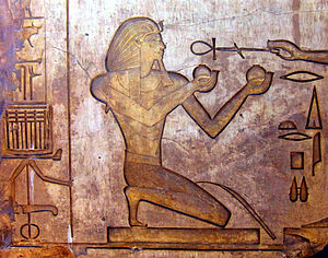 Relief of Thutmose II in Karnak Temple complex.