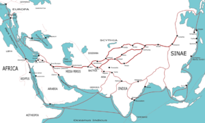 Map of the Silk Road, from China to Europe