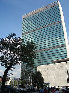 Picture of UN building in New York