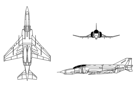 3-side view of the F-4E/F