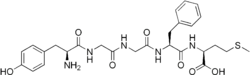 Skeletal formula of Met-enkphalin