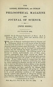 Title page On the Chemical Combination of Gases by Joseph John Thomson 1856-1940.jpg