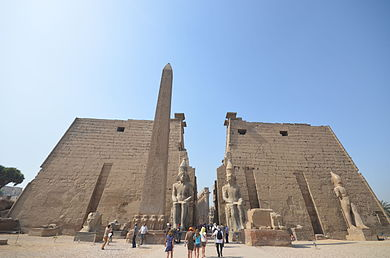 Entrance of Luxor Temple.JPG