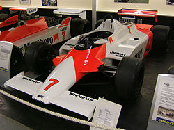McLaren MP4 (MP4/1), competed in the 1981 Formula One season
