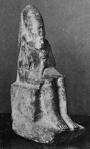 Statue of Menkauhor wearing the dress of the Sed festival from Memphis[note 1][2]