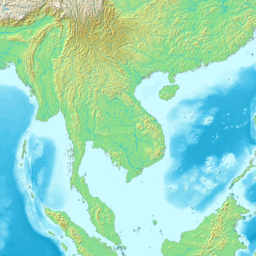Topographic map of Indochina