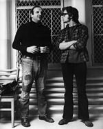 Bo Goldman and Miloš Forman on the set of One Flew Over the Cuckoo's Nest in 1975.