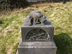 Harrier Hound Monument to Methuselah Yates in Churchyard to South of Church of St. Nicholas with St. John