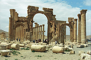 Ruins, with arches and columns