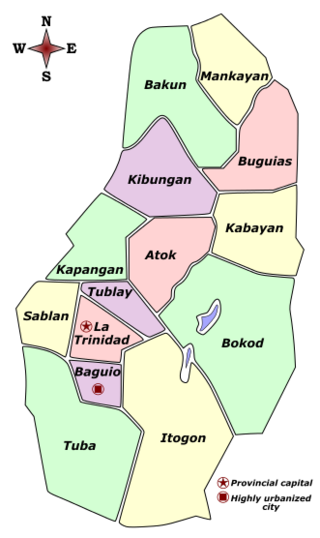 Benguet Labelled Map.png