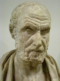 Stone sculpture of a man's head