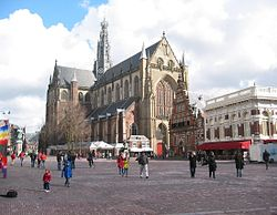 "Grote Kerk (""Great Church"") on the Grote Markt, Haarlem's central square"