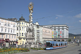 View of Hauptplatz, Linz