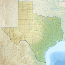 A map of Texas showing the location of Balmorhea State Park
