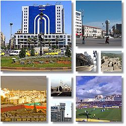 Homs city landmarks City centre and the Old Clock Tower • New Clock Tower Square • Dablan Street • Krak des Chevaliers  • Khalid ibn al-Walid Stadium • Khalid ibn al-Walid Mosque • New Clock Tower • City landscape from Rooftops