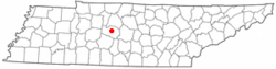 Location of Franklin, Tennessee