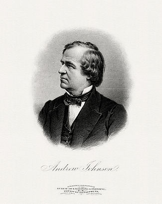 BEP engraved portrait of Johnson as President.