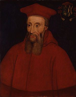Ancient oil painting of Cardinal Pole