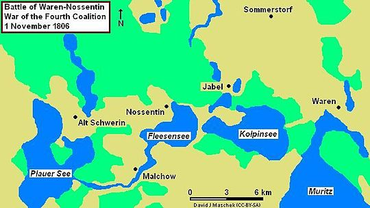 Map of the Waren-Nossentin area
