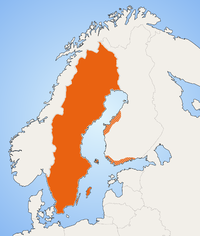 Distribution of the Swedish language.