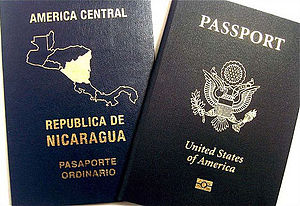 Picture of two passport documents.