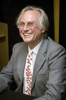 Evolutionary biologist and humanist Richard Dawkins at a book signing in October 2009.