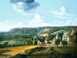 The Potrel manor house by Jan Griffier, 1650
