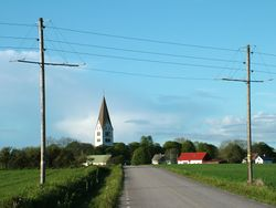 The road from Martebo to Stenkyrka